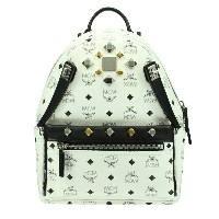 MCM エムシーエム バッグ リュック MMK6SVE80 WHITE DUAL STARK BACKPACK SMALL