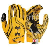 アンダーアーマー メンズ アメフト グローブ 手袋【Under Armour Swarm II Football Gloves】Steeltown Gold/Black/Black