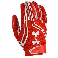 アンダーアーマー メンズ アメフト グローブ 手袋【Under Armour Swarm II Football Gloves】Dark Orange/White/White