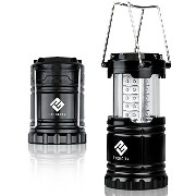 Etekcity Ultra Bright Portable LED Camping Lantern Flashlights (Black, Collapsible) [並行輸入品]