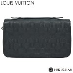 【LOUIS VUITTON/ルイ・ヴィトン】ダミエ・アンフィニ ジッピーXL オニキス N61254 【中古】≪送料無料≫