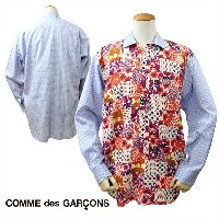 COMME des GARCONS SHIRT コムデギャルソン シャツ 長袖 ブルー ピンク メンズ