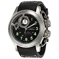 ハミルトン メンズ 腕時計 Hamilton Men's H77746333 Frogman Black Dial Watch