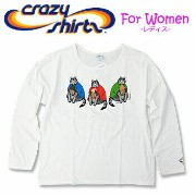 Crazy Shirts(クレイジーシャツ)-Womens- L/S Scoop Neck Tee @Kliban Cat[2008091] ICE CREAM CAT クリバンキャット 長袖 Tシャツ HAWAII...