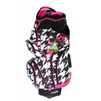 Molhimawk Ladies Pink Houndstooth Golf Cart Bag【ゴルフ レディース>カートバッグ】