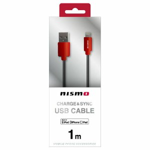 NISSAN 公式ライセンス品 NISMO CHARGE & SYNC USB CABLE FOR IPHONE RED NMUJ-LP1RD