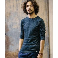 【ANGENEHM(アンゲネーム)】1632-323AN-Throstle Yarn 3/4 Sleeve Pocket Tee (MADE IN JAPAN)