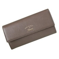 GUCCI 354496-CAO2G-2160グッチ ホック長財布レザーグレー×ソフトピンク