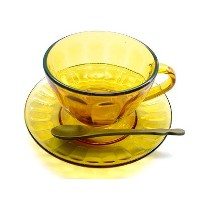 【DOULTON】 ダルトン ガラス カップ & ソーサー GLASS CUP & SAUCER