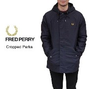 10%OFF [D]フレッドペリー FRED PERRY Cropped Parka クロップド パーカ ネイビー J7230-608