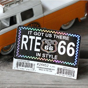 Route66ステッカーS <IT GOT US THERE IN STYLE> #24452