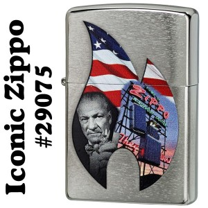 zippo(ジッポーライター) Iconic Zippo images #29075 Brushed Chrome
