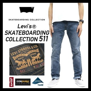 Levi's skateboarding collection 【 511 】リーバイス [95581-0011] 511TM SLIM (S&E AVENUES) デニム ライトブルー...