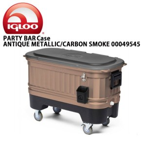 【IGLOO/イグルー】 クーラーボックス PARTY BAR Case ANTIQUE METALLIC/CARBON SMOKE 00049545【FUNI】【FZAK】 お買い得