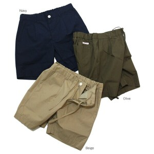 Vincent et Milleille(ヴァンソン エ ミレイユ)ONE TUCK SHORTS 3color ワンタックショーツ【サマーセール・送料無料】(キャンセル・返品不可)