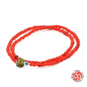 Sunku/39/サンクSK-022 White Heart Beads Anklet & NecklaceアンティークビーズNecklace/ネックレス/Anklet/アンクレットSilver925/...
