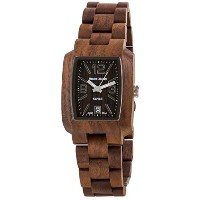 テンス 時計 メンズ 腕時計 木製 Tense Walnut Jumbo Rectangular Dark Dial Mens Watch J8102W DFLN