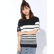 【SALE/45%OFF】X-girl STRIPED KNIT TOP エックスガール ニット【RBA_S】【RBA_E】【送料無料】