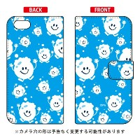 【送料無料】 手帳型ケース 「bubbles ライトブルー」 design by PansonWorks / for iPhone SE/5s/SoftBank 【SECOND SKIN】...