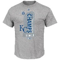 MLB ロイヤルズ Tシャツ 2015 World Series Champions Locker Room S/S Tシャツ Majestic