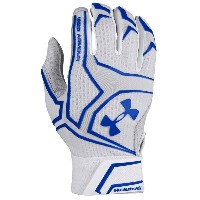 アンダーアーマー メンズ 野球 グローブ 手袋【Under Armour Yard Clutchfit Batting Gloves】White/White/Royal