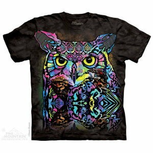 The Mountain Tシャツ Dean Russo Russo Owl (Dean Russo フクロウ メンズ 男性用 男女兼用) S-L【輸入品】半袖