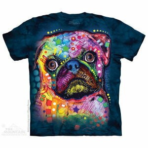 The Mountain Tシャツ Dean Russo Russo Pug (Dean Russo イヌ パグ メンズ 男性用 男女兼用) S-L【輸入品】半袖