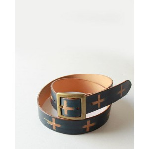 [MOTORATORY] Hand Painted Buckle Belt - CROSS (M's/L's)