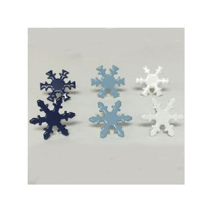 ブラッド(割りピン)Brads : Painted Metal Fastener /Snowflakes - Winter(1パック約50pcs入り)