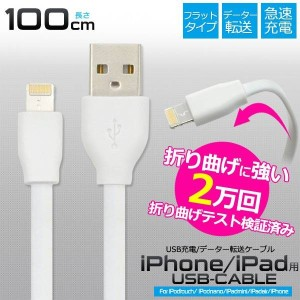 iPhone7 iPhoneSE iPhone6s USB 充電ケーブル iPhone 6 iPhone6 Plus iPhone 5s 急速充電 USBケーブル 1m 100cm 充電器...