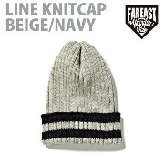 FEW-14AW-0708 LINE KNITCAP BEIGE/NAVY