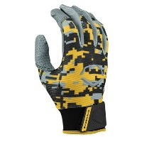 エボシールド メンズ 野球 グローブ【Evoshield Prostyle Batting Gloves】Digi Camo Gold/Grey/Black