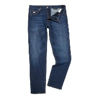 ヒューゴ ボス メンズ ボトムス ジーンズ【Hugo Boss Maine dark vintage regular fit jean】Denim Mid Wash