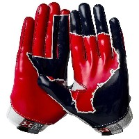 アンダーアーマー メンズ アメフト グローブ 手袋【Under Armour Swarm II State Pride Football Gloves】White/Navy/Red