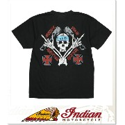 INDIAN MOTORCYCLE JESSEE SHOP T-SHIRT (SS:TEE)(IM73911-BK)