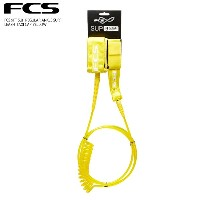 FCS 9' SUP レギュラー アンクル用 サーフ リーシュ (2033-TCY-09F)9' SUP REGULAR ANKLE SURF LEASH TAXI CAP YELLOWFCS...