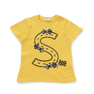 【3can4on(Kids) (サンカンシオン)】レーシングカーTシャツキッズ トップス カットソー・Tシャツ イエロー
