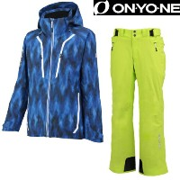 2016/2017【ONYONE】オンヨネスキーウェアONJ99P40-2+ONP99050-2 PRINT OUTER JACKET+OUTER PANTS Lサイズ/スキー/ユニセックス/メ...