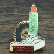 Total Oil ロゴ ピンバッジ LOGO トタル オイル ピンズ