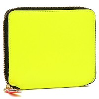 コムデギャルソン 財布 COMME des GARCONS SA2100SF SUPER FLUO ZIP AROUND SMALL WALLET 二つ折り財布 YELLOW
