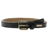 Cole Haan 25mm Patent Belt with Cole Haan Logo Plaque Under Tab