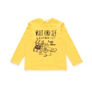 【THE SHOP TK(Kids) (ザ ショップ ティーケー(キッズ))】コーヒープリントロングTシャツキッズ トップス|カット...