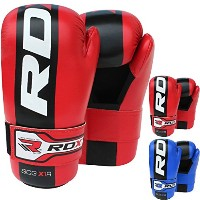 RDX キッズ Maya ハイド レザー MMA Grappling Semi Contact グローブ UFC Cage Fighting Sparring Glove Training ...