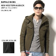 BUFFALO BOBS(バッファローボブズ) NEW WESTERN-NUBACK TOUCH 2WAY ショートモッズ ブルゾン(2COLOR))
