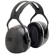 3M Peltor ぺルター イヤーマフ X-Series Over-the-Head Earmuffs, NRR 31 dB, One Size Fits Most, Black X5A (Pack of 1)