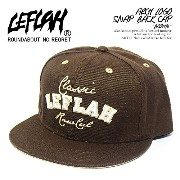 (レフラー)LEFLAH ARCH LOGO SNAP BACK CAP -BROWN- FREE