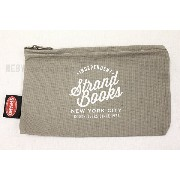 【STRAND BOOK STORE】Pouch: Indie Script(ストランドブックストア ポーチ グレー カーキ)