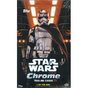 TOPPS CHROME STAR WARS THE FORCE AWAKENS BOX