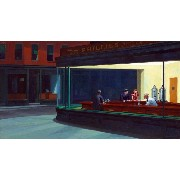 The Museum Outlet - Edward Hopper - Nighthawks - Poster Print Online Buy (24 X 18 Inch)