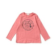 【3can4on(Kids) (サンカンシオン)】ネコレースカットソーキッズ トップス|カットソー・Tシャツ ラズベリーピンク